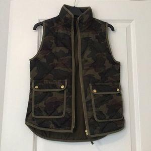 J.Crew Camo Quilted Vest